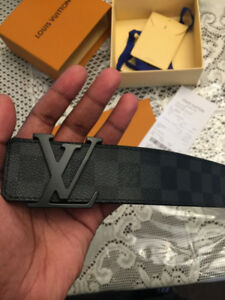 Louis Vuitton Belt NEW (dam. graphite)- store bought/receipt