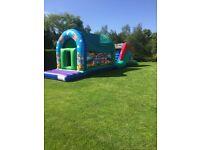 2 part assault course bouncy castles - 2016