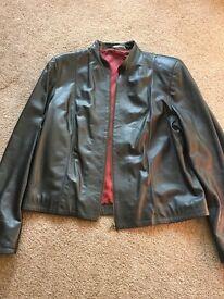 M&S soft leather ladies jacket
