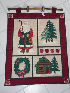 Traditional Quilted Christmas Wall Hanging