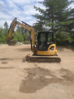 60 mini excavator and operator for hire .