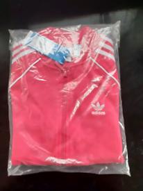 Adidas SST Jacket Pink & White Small FEMALE size 10