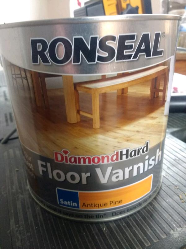 Ronseal Diamond Hard Floor Varnish Antique Pine Satin In
