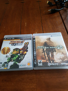 PS3, 3 controllers and 18 games
