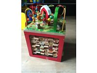 Rare wooden activity cube