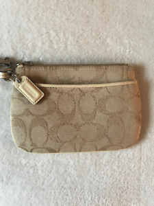 Beige Coach Wristlet - Barely Used