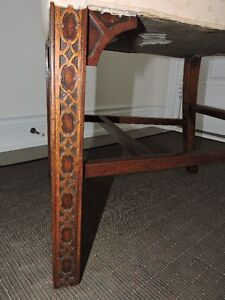 CARVED MAHOGANY CHAIR
