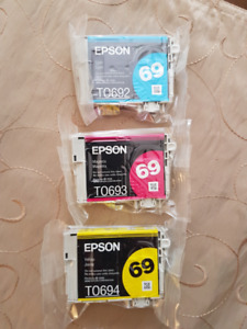 Epson Printer Cartridges - Cyan, Yellow & Magenta