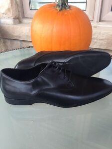 Men's black leather shoes (Zara Men)