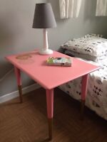 Pretty in Pink Side Table