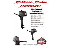 Great Deals on NEW MERCURY OUTBOARDS