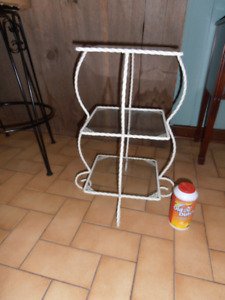 3 plant tables  wrought iron