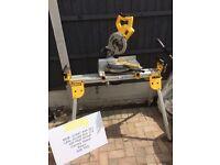 Dewalt DW777 miter chop saw and stand, 110v