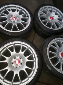 Bbs ch' s 18s 5x112 vw,audi,seat alloy wheels