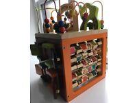 Zany Zoo wooden activity cube
