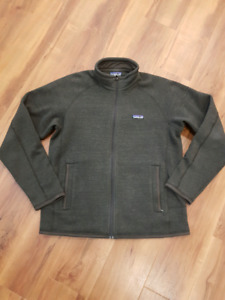 Patagonia better sweater full zip. Men's medium.  Salmon arm