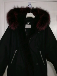 Soia Kyo down coat jacket with fur