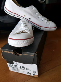 Brand new white size 5 womans converse