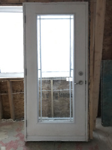 """REDUCED - Outside Patio Door with Prairie Grille 36X 80"""""""
