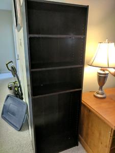 BOOK SHELF AND LAMP $30