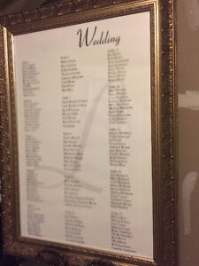 Wedding seating chart Antique frame and easel Cambridge Kitchener Area image 2