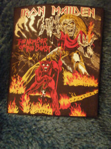 Vintage Sew On Patch Of Iron Maiden