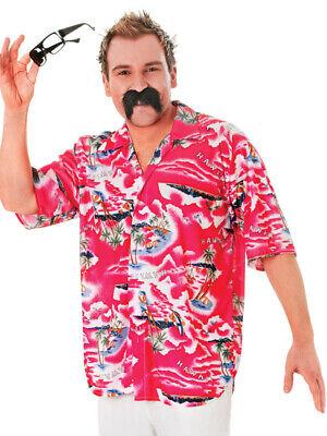 Mens Pink Floral Hawaiian Themed Shirt Fancy Dress Size M/L Upto 44