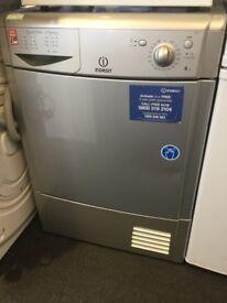 Indesit Silver 8kg Condenser tumble dryer