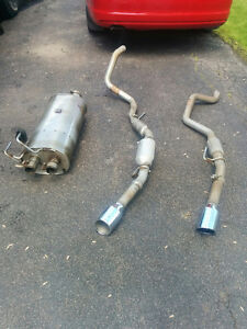 Muffler and Tail Pipes Off A Dodge Ram Sport