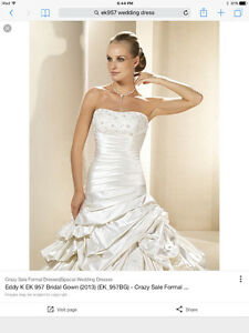 ITALIAN DESIGN WEDDING DRESS BY EDDY K