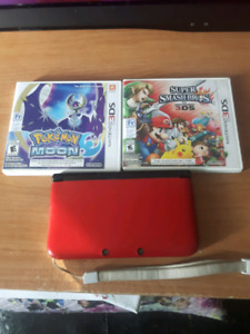 Nintendo 3DS XL w/ two games + two digital download games