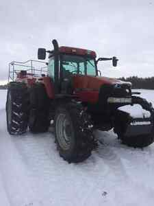 Case IH MX170 4x4 Farm Tractor and farm equipment