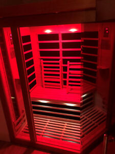 TWO-PERSON INFRARED SAUNA BY GOLDEN DESIGNS IN CALIFORNIA
