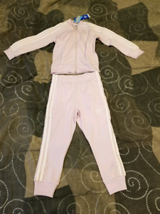 BNWT, girls' Adidas track suit, size 5