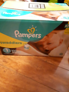 Pampers swaddlers diapers new!