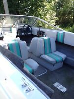 15.5 ft hydratech boat with 90 hp force