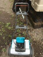 Working Electric Lawn Mower.