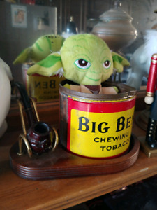 Tobacco Tin and Pipe Stand