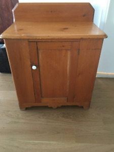 antique pine washstand/table
