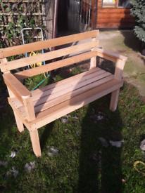 Bench made of oak