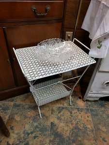 Vintage Punched Metal Stand