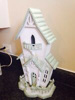 Large Wooden Decorative House. Hand Painted