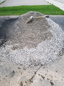 3/4 in crushed and clear gravel