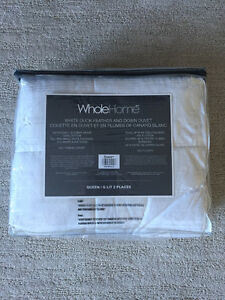 Brand New Queen Size White Duck Feather And Down Duvet 320 count