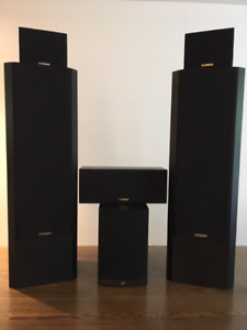 Surround Speakers with subwoofer and Blue Ray DVD