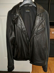 Leather jacket from The Kooples with detachable hood - Size S