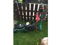 Lawn mower and strimmer set