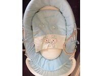 Brand new but opened Aqua/blue Moses basket --RRP £45 argos