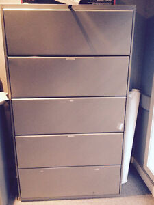 5 lateral drawer filing cabinet
