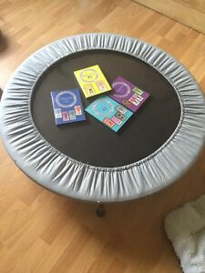 Rebounding trampoline and DVDs